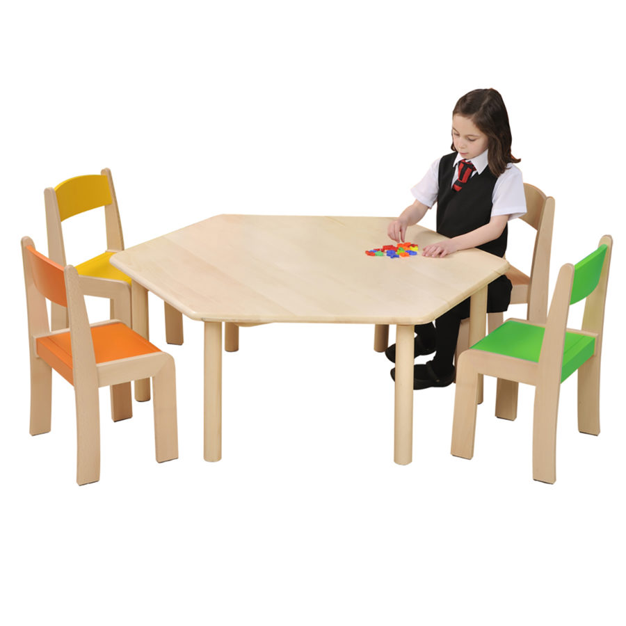 Hex Table With Girl Hr1