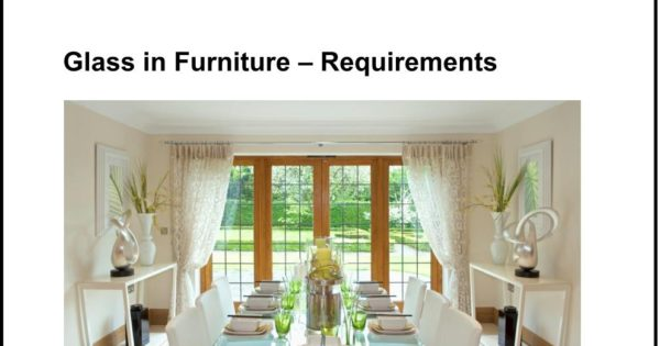 The Furniture Retail Quality Group Best Practice Guide 2017 - Glass in Furniture