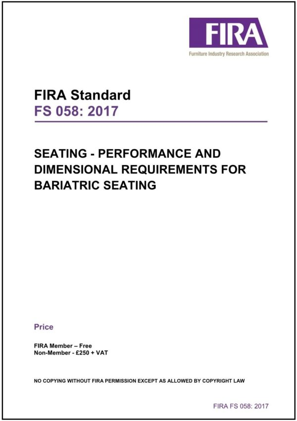 Seating Performance And Dimensional Requirements For Bariatric Seating 2017 1