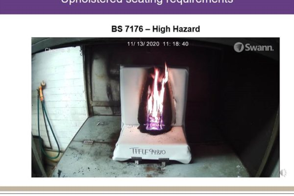 Contract flammability regulations are the fifth and final training session for members